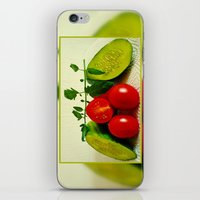 vegetables iPhone & iPod Skins featuring Juicy Vegetables by Art-Motiva