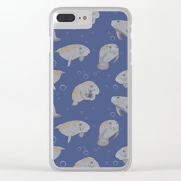 Manatees and Bubbles Clear iPhone Case