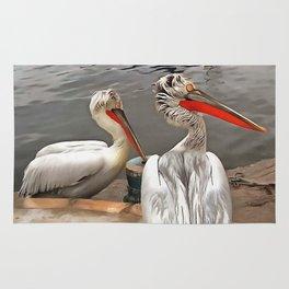 Pelicans - The Grey Twins Rug