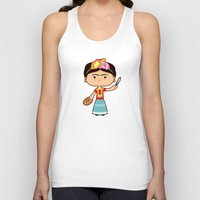 frida kahlo Tank Tops featuring Frida Kahlo by Sombras Blancas Art & Design