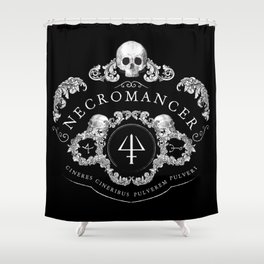 Necromancer Emblem Shower Curtain