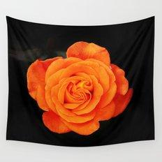 Romantic Rose Orange Wall Tapestry