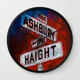 Haight and Hasbury Wall Clock