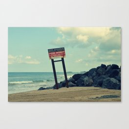 Endroit interdit Canvas Print