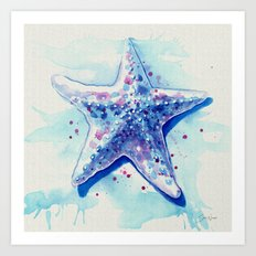 Starfish Waters I natural Art Print
