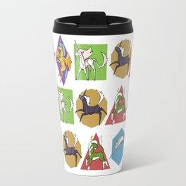 Geometric Unicorns Travel Mug