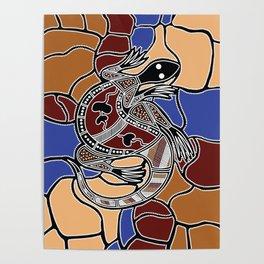 Aboriginal Art - Goanna (lizard) Dreaming Poster