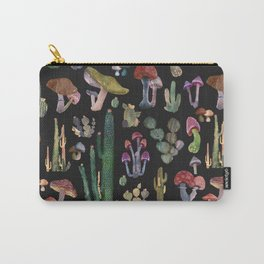 black mushrooms Carry-All Pouch