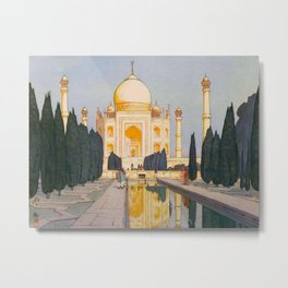 The Taj Mahal Gardens Hiroshi Yoshida Japanese Woodblock Prints Metal Print