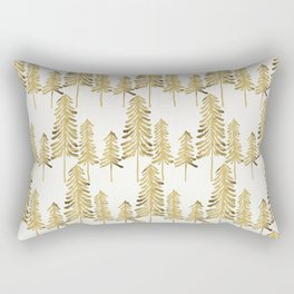 Pine Trees – Gold Palette Rectangular Pillow