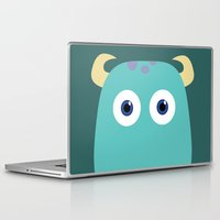 pixar Laptop & iPad Skins featuring PIXAR CHARACTER POSTER - Sulley - Monsters, Inc. by Marco Calignano
