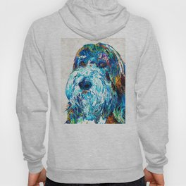 Bearded Collie Art 2 - Dog Portrait by Sharon Cummings Hoody