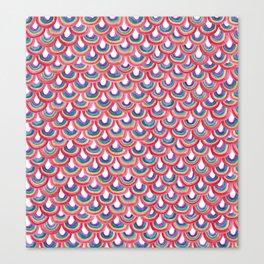 Rainbow Scallop Canvas Print