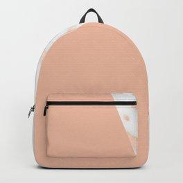 Marble Geometric Rose Gold Pink Quartz Backpack
