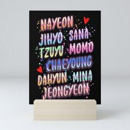 twice name Mini Art Print