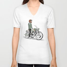 The Woman Rider Unisex V-Neck