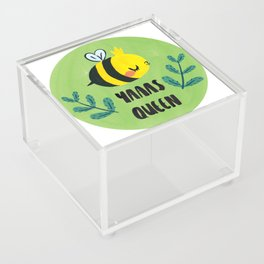 'Yass Queen' Queen Bee Illustration Acrylic Box