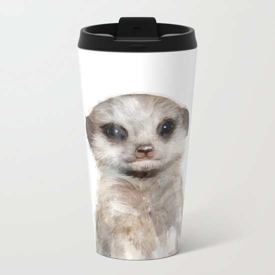 Little Meerkat Metal Travel Mug