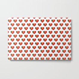 East Timor Love flagMotif Repeat Pattern design background  Metal Print