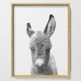 Black and White Baby Donkey Serving Tray