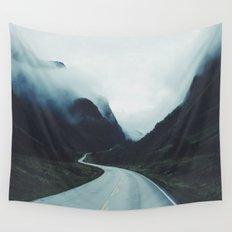 Dark road Wall Tapestry
