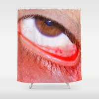 fries Shower Curtains featuring Fries by AsoMohammadi