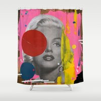 marilyn Shower Curtains featuring Marilyn by FAMOUS WHEN DEAD