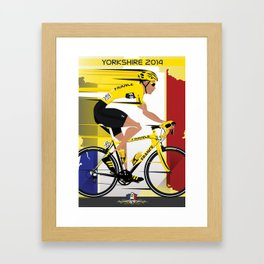 Grand Depart Yorkshire Tour De France  Framed Art Print