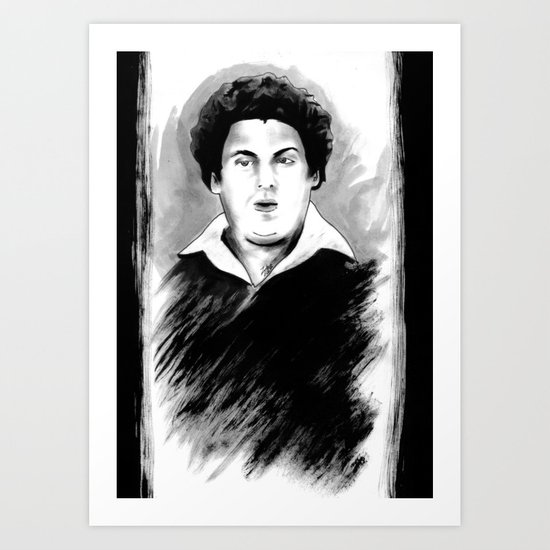 DARK COMEDIANS: Jonah Hill Art Print