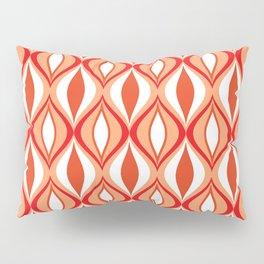 Mid-Century Modern Diamonds, Orange and White Pillow Sham