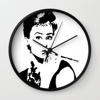 hepburn Wall Clocks featuring Hepburn by annelise h