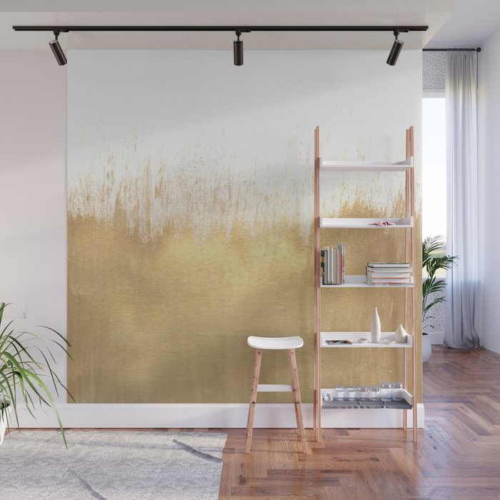 Brushed Gold Wall Mural