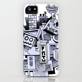 Jumbled City full of assorted junnk iPhone Case