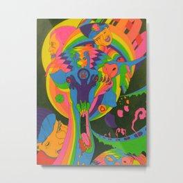 This Here Giraffe Metal Print