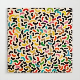 colored worms Wood Wall Art