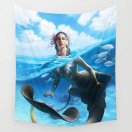 Ray Mermaid Wall Tapestry