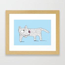Perro Cojo / Lame Dog - blue Framed Art Print
