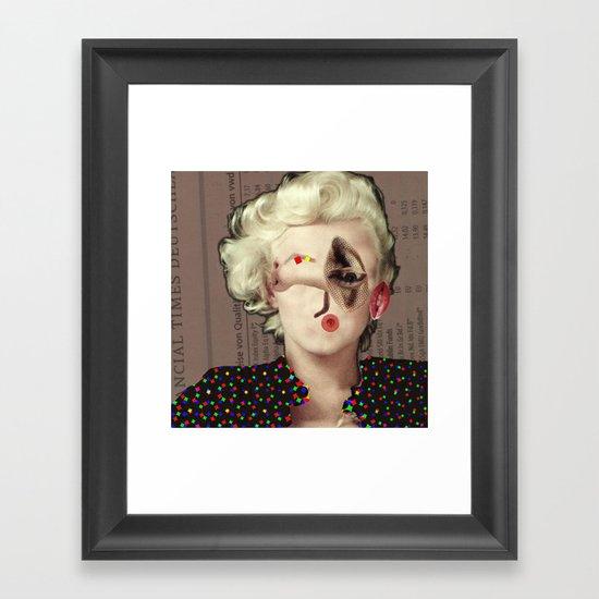 Mix Marilyn Collage 2 Framed Art Print