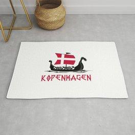 Kopenhagen  TShirt Denmark Flag Shirt Danish City Gift Idea Rug