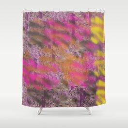 Gold, Pink, Purple Graffitti Shower Curtain