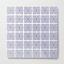 Antic pattern 22- roman or greek pattern - blue Metal Print