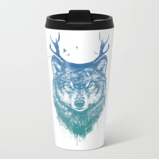 Deer wolf Metal Travel Mug