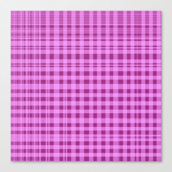 Purple Checkers. Canvas Print