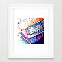 tame impala Framed Art Prints featuring Impala by Brandi Fitz Arts