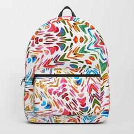 Colourful Floral Mandala Star Backpack