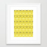 glasses Framed Art Prints featuring Glasses by C Designz