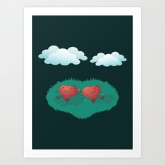 Hearts in the Clouds Art Print