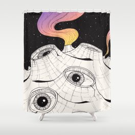 planets have ears Shower Curtain