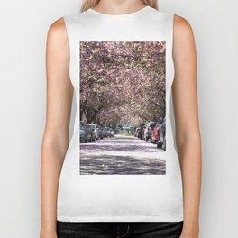Cherry Blossoms over E 10th Ave Biker Tank