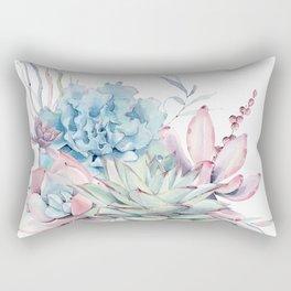 Pretty Pastel Succulents Rectangular Pillow
